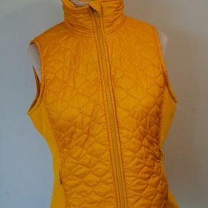 L.L. Bean Women's yellow puffer medium vest